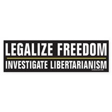 Legalize Freedom Bumper Bumper Sticker