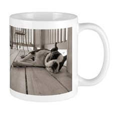 DOG TIRED Mugs