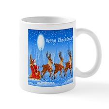 Merry Christmas Santa & Sleigh Mug