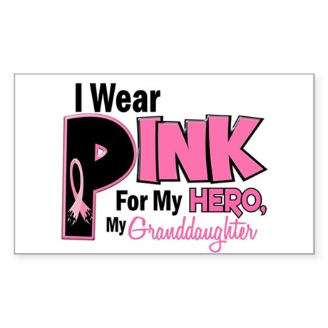 I Wear Pink For My Granddaughter 19 Sticker (Recta