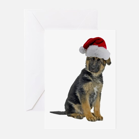German Shepherd Xmas Greeting Cards (Pk of 10)