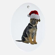 German Shepherd Xmas Oval Ornament