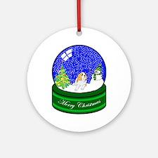 Snow Globe St Bernard Ornament (Round)