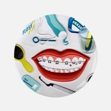 "Dentists, Hygienists, Orthodo 3.5"" Button"