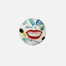 Dentists, Hygienists, Orthodo Mini Button