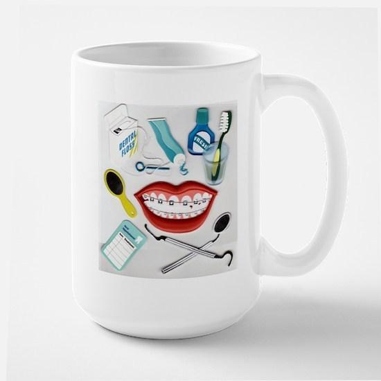 Dentists, Hygienists, Orthodo Large Mug