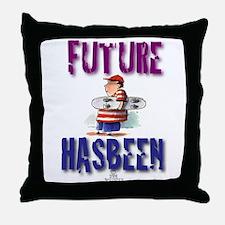 Future Skateboarder Throw Pillow
