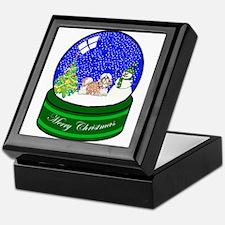 Snow Globe Shih Tzu Keepsake Box