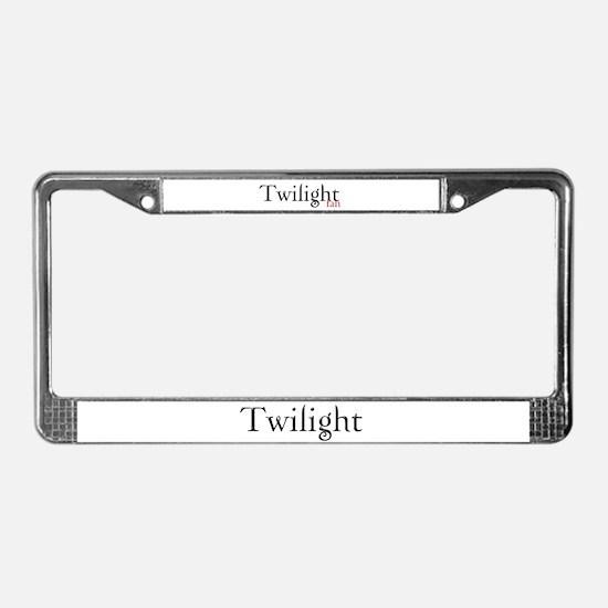 Twilight Fan License Plate Frame