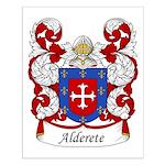 Alderete Family Crest Small Poster