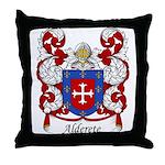 Alderete Family Crest Throw Pillow