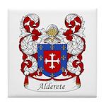 Alderete Family Crest Tile Coaster