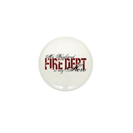 My Boyfriend is My Hero - Fire Dept Mini Button