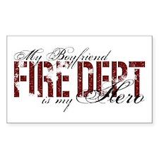 My Boyfriend is My Hero - Fire Dept Decal