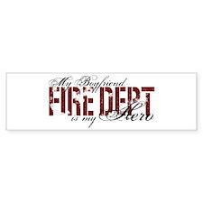 My Boyfriend is My Hero - Fire Dept Bumper Sticker
