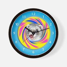 Ferrets with Lollipop Wall Clock