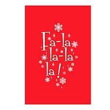 Fa-la-la Postcards (Package of 8)