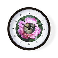 Ferret In Flower Wall Clock