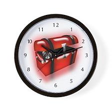 Ferret In A Trunk Wall Clock