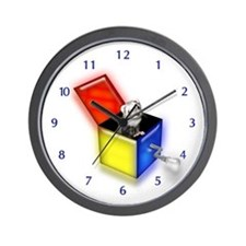 Ferret Jack-In-The-Box (white) Wall Clock