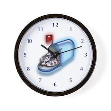 Ferrets in Mailbox Wall Clock