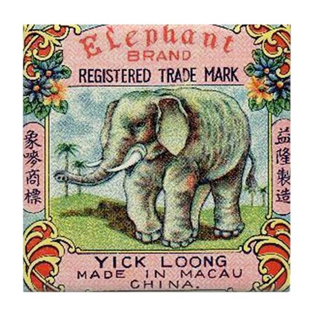 Elephant Firecrackers Tile Coaster