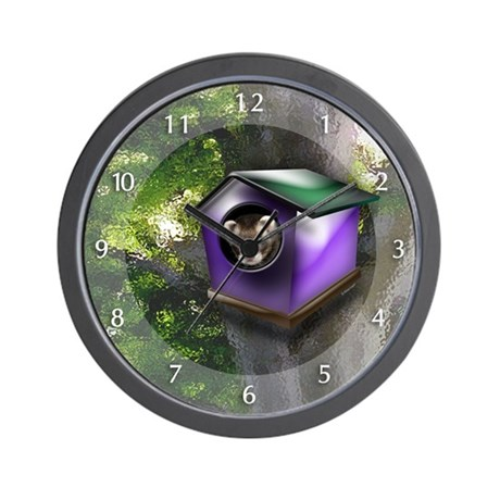 Ferret Tree House Wall Clock