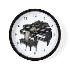 Ferret Playing Piano Wall Clock