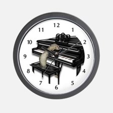 Ferret Playing Piano Wall Clock