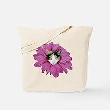 Calico Cat Flower Tote Bag
