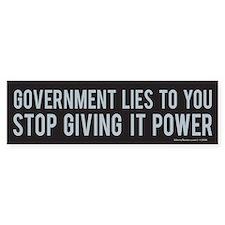 Government Bumper Bumper Sticker