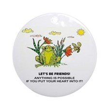 Frog Fun Ornament (Round)