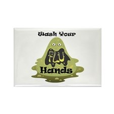 Wash Your Hands Rectangle Magnet (10 pack)