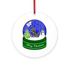 Snow Globe Rottweiler Ornament (Round)