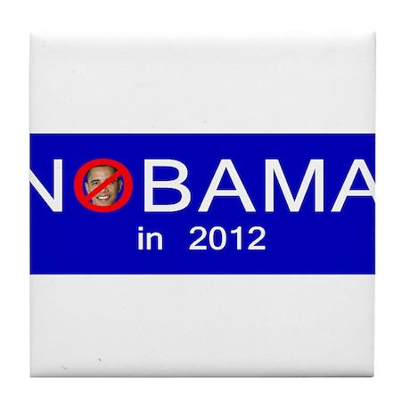 Nobama in 2012 Tile Coaster