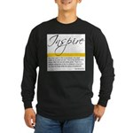 Emerson Quote: Inspiration Long Sleeve Dark T-Shir