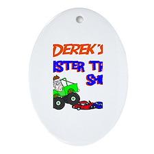 Derek's Monster Truck Oval Ornament