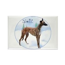 Greyhound Noel Rectangle Magnet