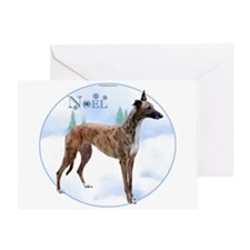 Greyhound Noel Greeting Card