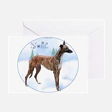 Greyhound Noel Greeting Card