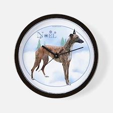 Greyhound Noel Wall Clock