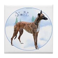 Greyhound Noel Tile Coaster
