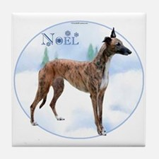 Greyhound Noel Tile Coaster