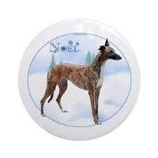 Greyhound Noel Ornament (Round)