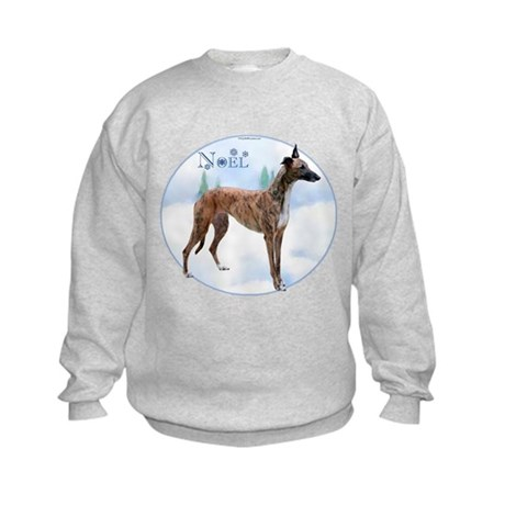 Greyhound Noel Kids Sweatshirt
