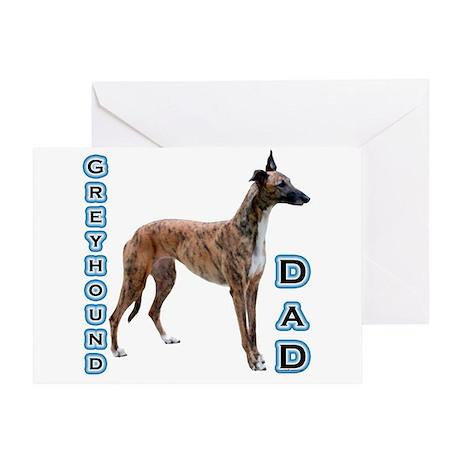 Greyhound Dad4 Greeting Card