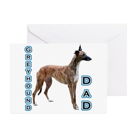 Greyhound Dad4 Greeting Cards (Pk of 10)