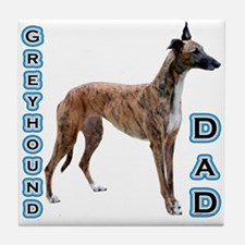Greyhound Dad4 Tile Coaster
