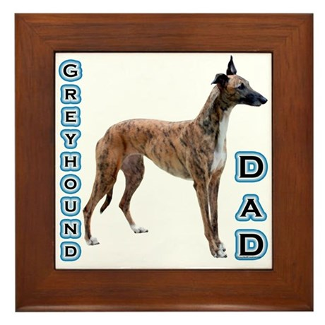 Greyhound Dad4 Framed Tile