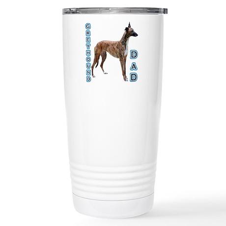 Greyhound Dad4 Stainless Steel Travel Mug